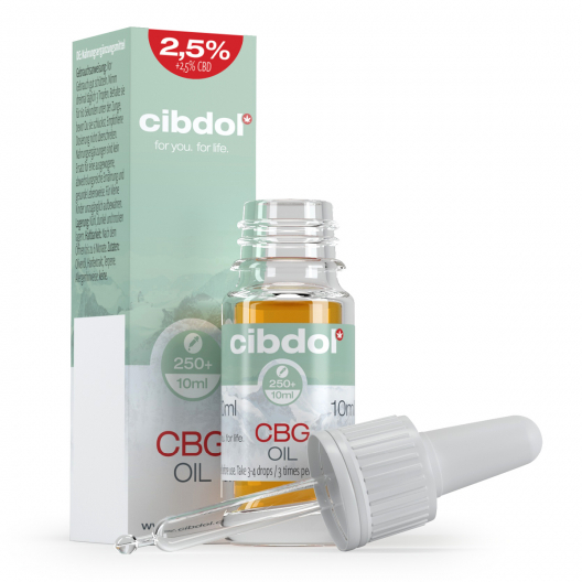2.5 % CBG & 2.5 % CBD Olja